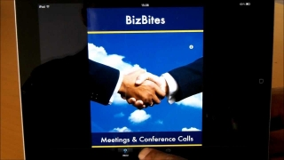 Learning Business English with iPad - Meetings BizBites App for Students & Teachers