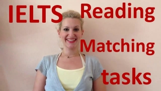 IELTS Reading: TIPS for Matching tasks- english video