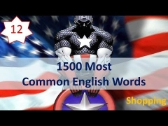 1500 Most Common English Words - 12: Shopping