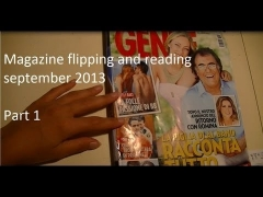 ♦ Magazine flipping, pointing, reading out italian and english ♦ soft spoken ASMR Sep13 Part1