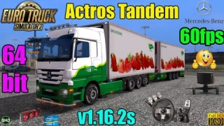 Let´s Play ETS2 Actros Tandem UK to Belgium+TrackIR5+G27