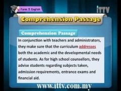 iTTV SPM Form 5 English Chapter 4 Comprehension (People-Summary Writing I) Tuition/Lesson/Exam/Tips