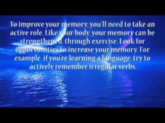Advanced Intermediate English Listening and Reading Exercise 9 - Improve Your Memory