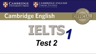 Cambridge IELTS 1 Listening Test 2 (high quality)