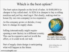 Business and Finance Lesson 13: Cost/Benefit Analysis of Supply Chain (Learn English)