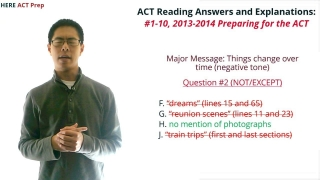 ACT Reading Practice Test Unlocked: #1-10, 2013-2014 Preparing for the ACT Booklet
