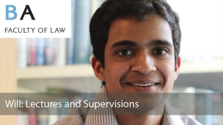 Law Lectures and Supervisions: Will