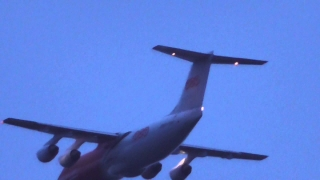 TNT Bae plane takes off  17oct14 Cambridge UK 611p