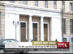 Finance ministry says Greece will not pay the IMF on Tuesday