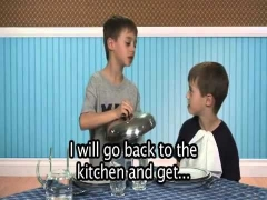 Learning English Learning English Fun with Max and Alex Dinner, ESL for Kids