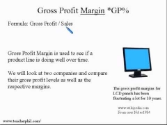 1. Business and Finance: Gross Profit Margin Business English Learning