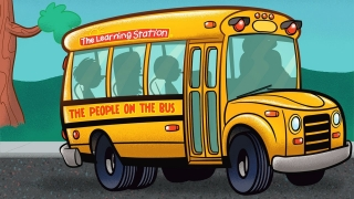Wheels on the Bus Go Round and Round - Popular Children's Song - Kids Song by The Learning Station