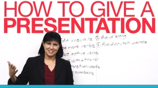 How to give a presentation in English