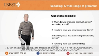 IELTS Speaking tips: Grammar for IELTS speaking [www.ibest.edu.vn]