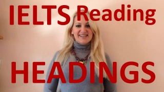 IELTS Reading: Matching Headings task tips- english video