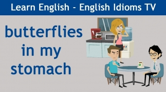 Learn / Teach English Idioms - Episode 9: Butterflies in my stomach