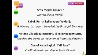 Lithuanian Basics Lesson 1 - Travelling. Everyday sentences in Lithuanian