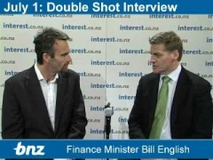 Double Shot Interview: Finance Minister Bill English