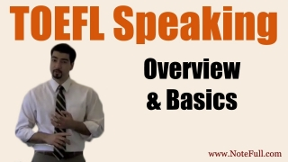 TOEFL speaking section overview