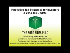 Longhorn Learning Series: Innovative Tax Strategies for Real Estate Investors & 2014 Tax Update