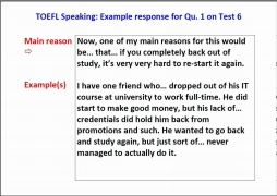 New TOEFL iBT Speaking Question 1 sample with scripts!