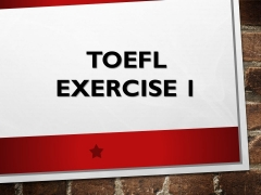 TOEFL PBT/ITP Short Dialogues ‖ Exercise 1