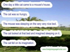 The Story of Cat and Mouse (English Reading Practice)