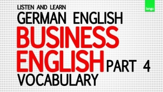 Englisch lernen für Anfänger - Business English vocabulary part 4 - learn german language