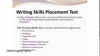 compass writing skills placement test