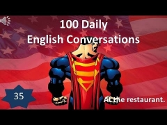 Daily English Conversations 35: At the restaurant.