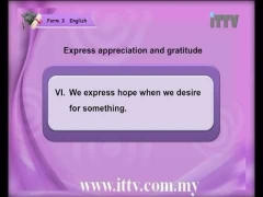 iTTV PMR PT3 Form 3 English Chapter 3 Speaking (Express Appreciation and Gratitude)