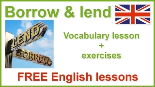 Learn English vocabulary - Borrow and lend