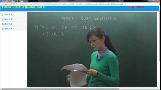 Luyen thi toeic co Mai Phuong Part3 Full Short Conversation Bai 4