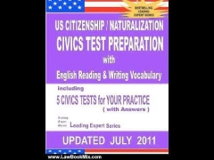 Law Book Review: US Citizenship / Naturalization CIVICS TEST PREPARATION with English Reading & W...