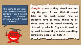 IELTS Speaking Models: 15 -- Cooking at School