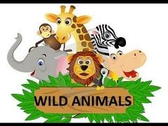 WILD ANIMALS for children to learn in ENGLISH (Learning names + sounds + video)