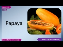 Learn English - English Vocabulary Lesson 20 - Fruit | Free English Lessons, ESL English Lessons