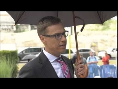 Arrival and doorstep (in English) by Alexander STUBB, Finnish Minister for Finance