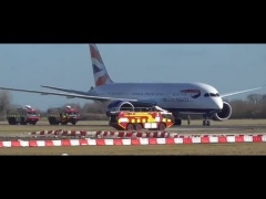 British Airways Boeing 787 Dreamliner shutsdown & tug & Military etc  Cambridge UK 17feb15 1227