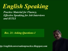 English speaking practice.   Asking questions-Practice. IELTS speaking test practice.