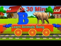 Learn Animals Song + 30 Min - English for kids