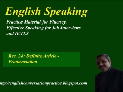 English Speaking, IELTS  speaking test preparation, definitely article-pronunciation