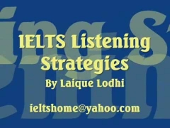 IELTS Listening Strategies by Laique Lodhi