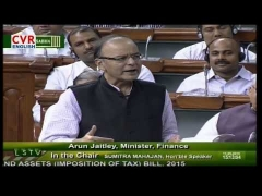Finance Minister Arun Jaitley Addressing Lok Sabha on Money Bill | CVR English