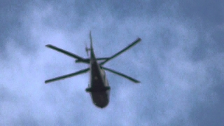 Large White helicopter takes off  3mar15 Cambridge UK 1227p