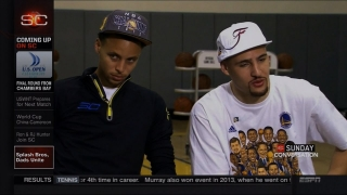 Splash Brothers Steph Curry & Klay Thompson SportsCenter Conversation Interview | LIVE 6-21-15