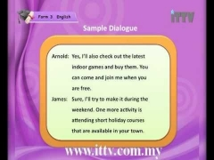 iTTV PMR PT3 Form 3 English Chapter 4 Listen To and Understand a Telephone or Dialogue Conversation
