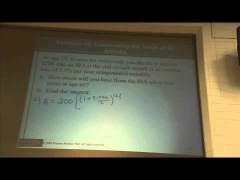 Math 101 Financial Mathematics Lecture Pt  #2 11-22-2013 Southern Illinois University