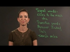 How to Identify the Main Idea With Signal Words : English & Writing Lessons