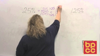 Math 097 Module 12.5 - Percent to Fraction